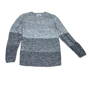 Gray Ombré Knit Sweater Top